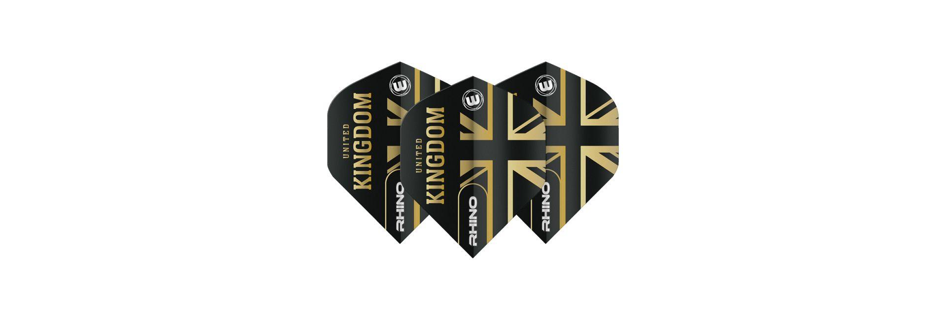 Winmau Rhino Black & Gold United Kingdom Dart Flights