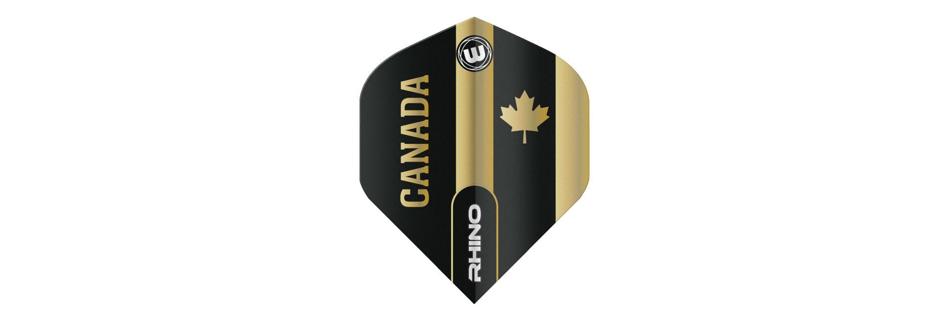 Winmau Rhino Black & Gold Canada Dart Flights
