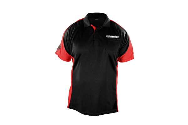 Winmau Wincool 3 Black & Bullseye Red Dart Shirt