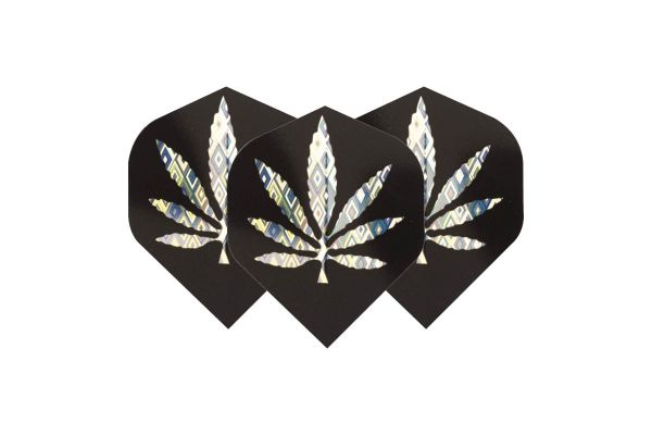 Black & Silver Leaf Dart Flights