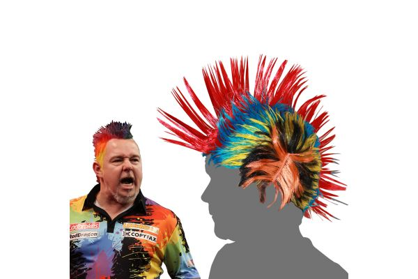 Red Dragon Peter Wright Snakebite Themed Wig