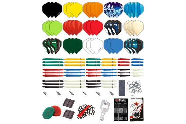 Red Dragon Darts 200 Piece Darts Custom Fit Pack