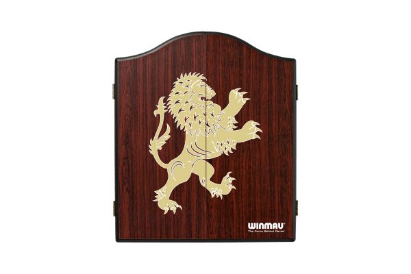 Winmau Lion Rosewood Effect Dartboard Cabinet