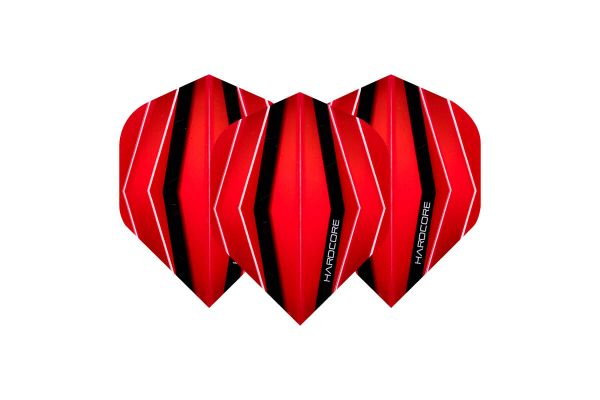 Hardcore XT Red & Transparent Red Dart Flights