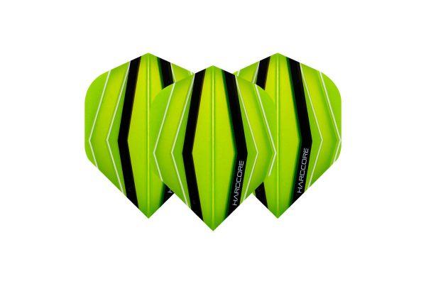 Hardcore XT Green & Transparent Green Dart Flights