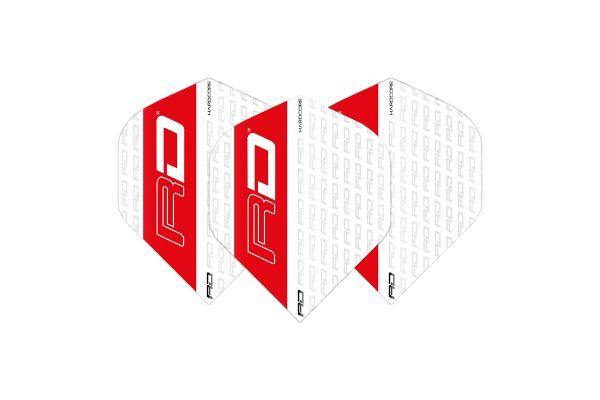 Hardcore White & Red Dart Flights