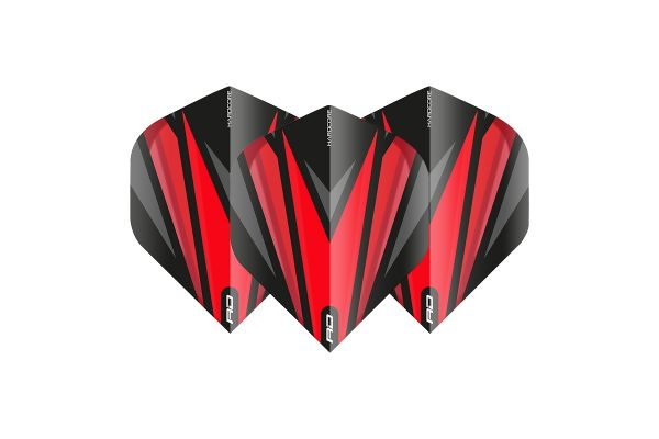Hardcore Radical Black & Red Dart Flights