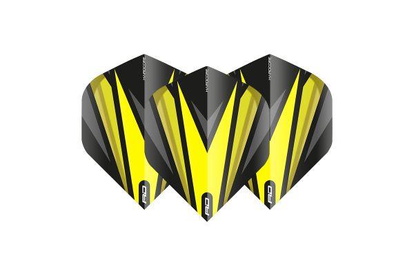 Hardcore Radical Black & Yellow Dart Flights