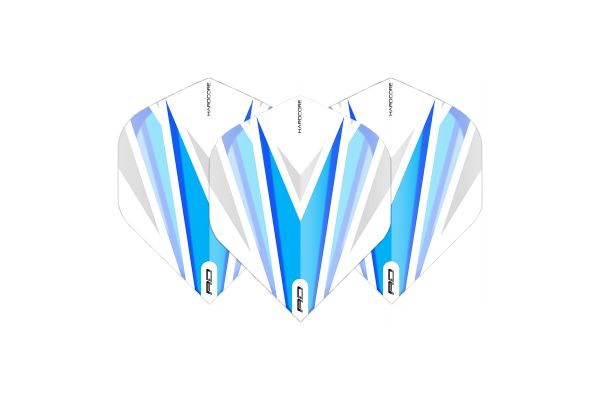 Hardcore Radical Blue & White Dart Flights