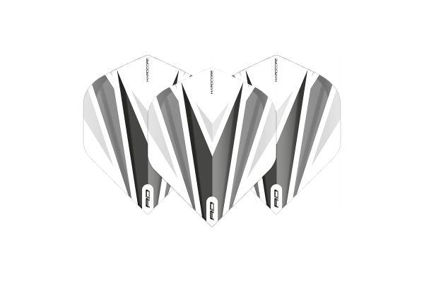 Hardcore Radical Grey & White Dart Flights