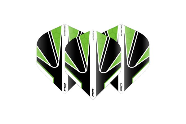 Hardcore Radical Black & Green Dart Flights