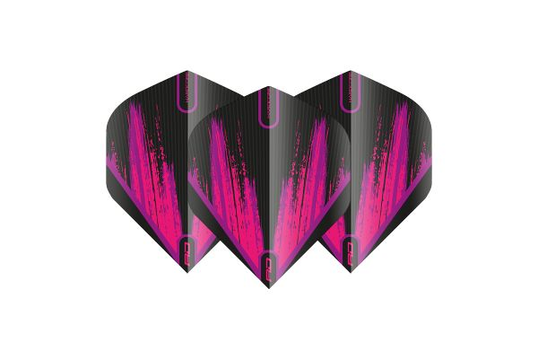 Hardcore Radical Black & Pink Dart Flights