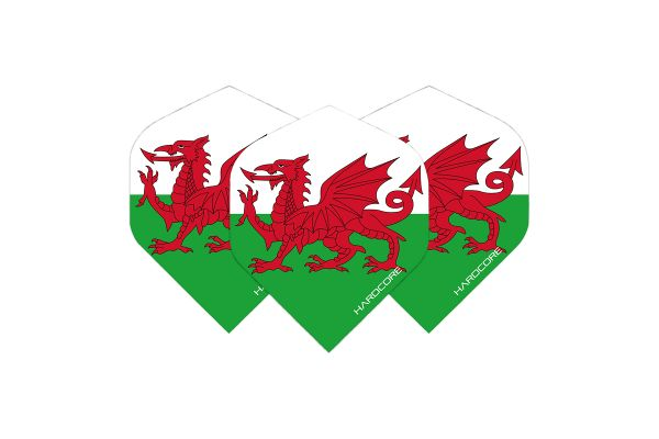 Hardcore Wales Flag Dart Flights