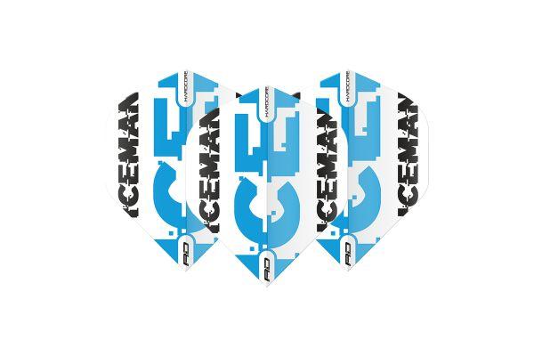 Hardcore Gerwyn Price - White & Blue Logo Flights