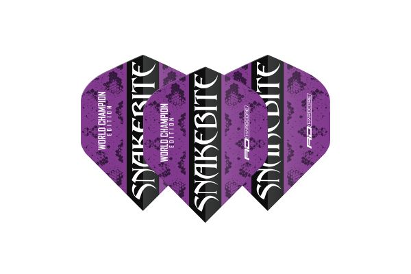 Snakebite World Champion Edition Black Strike Hardcore Dart Flights
