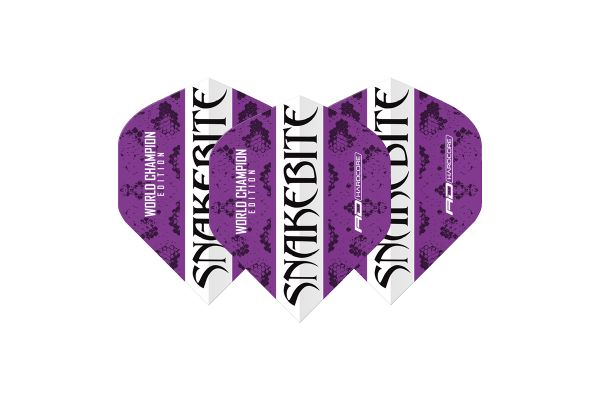 Peter Wright Snakebite World Champion Edition Purple Strike Hardcore Dart Flights