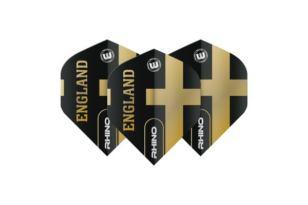 Winmau Rhino Black & Gold England Dart Flights