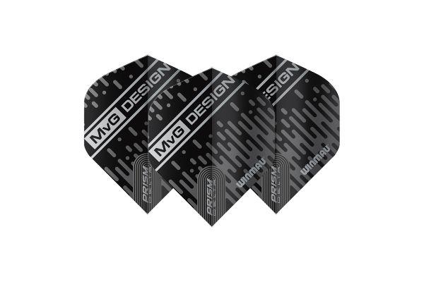 Winmau Prism Delta MvG Design Black & Grey Dart Flights