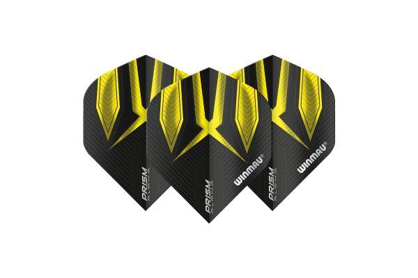 Winmau Prism Alpha Black & Yellow Dart Flights