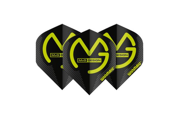 Winmau MVG Black Dart Flights