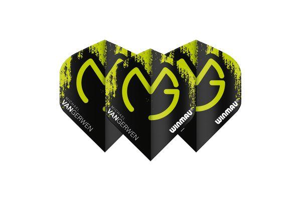 Winmau MVG Black with Green Logo Dart Flights