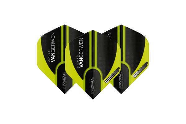 Winmau MVG Translucent Green and Black Dart Flights