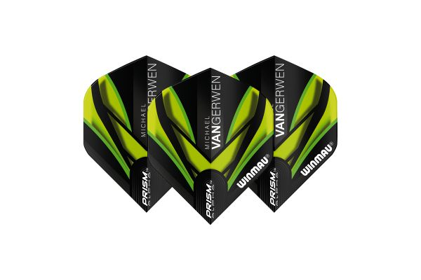 Winmau  MVG Translucent Black and Green Dart Flights