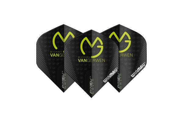 Winmau MVG Black with Logo Dart Flights