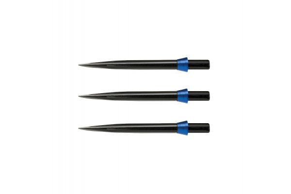 Red Dragon Specialist Dart Points - Black Standard 32mm with Blue Tridents - 1 set per pack
